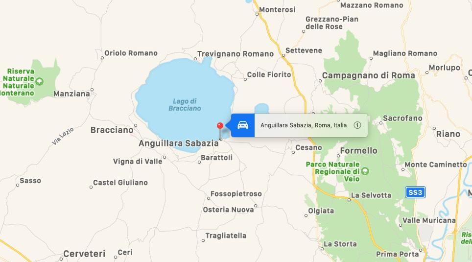Mappa di Anguillara Sabazia, Roma