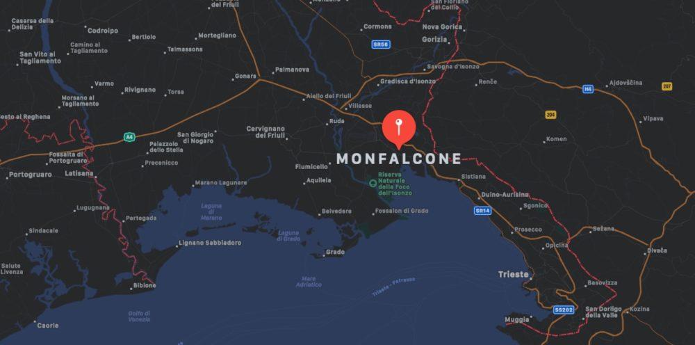 Mappa di Monfalcone, provincia di Gorizia