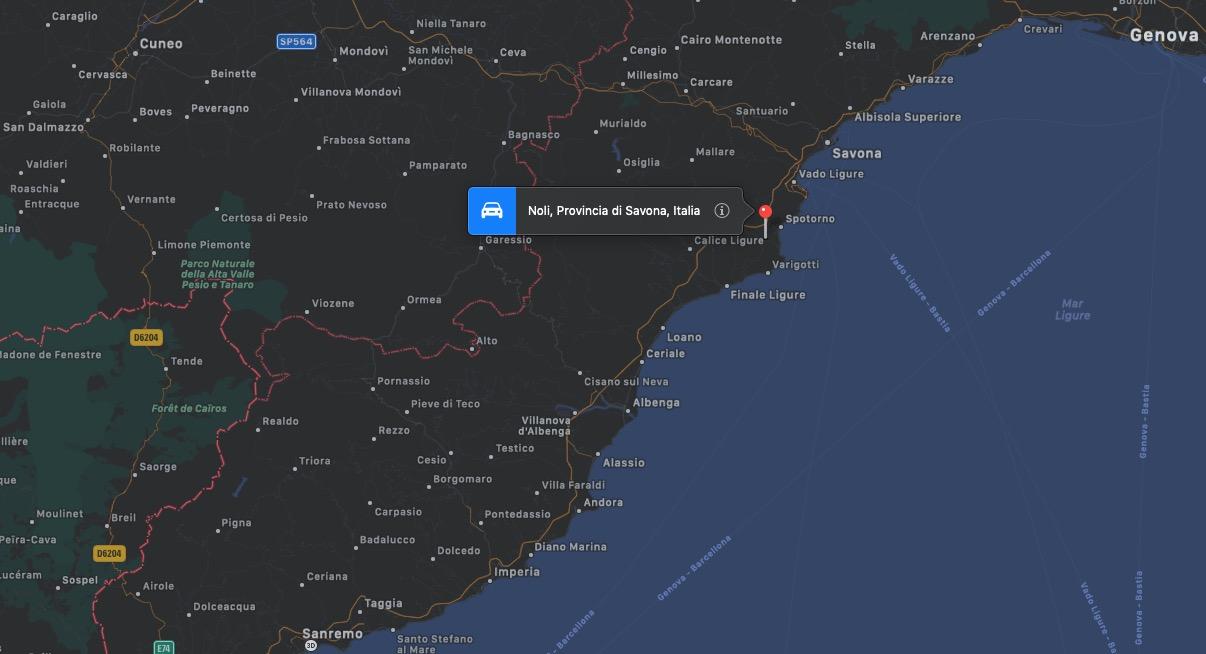 Mappa di Noli, Liguria