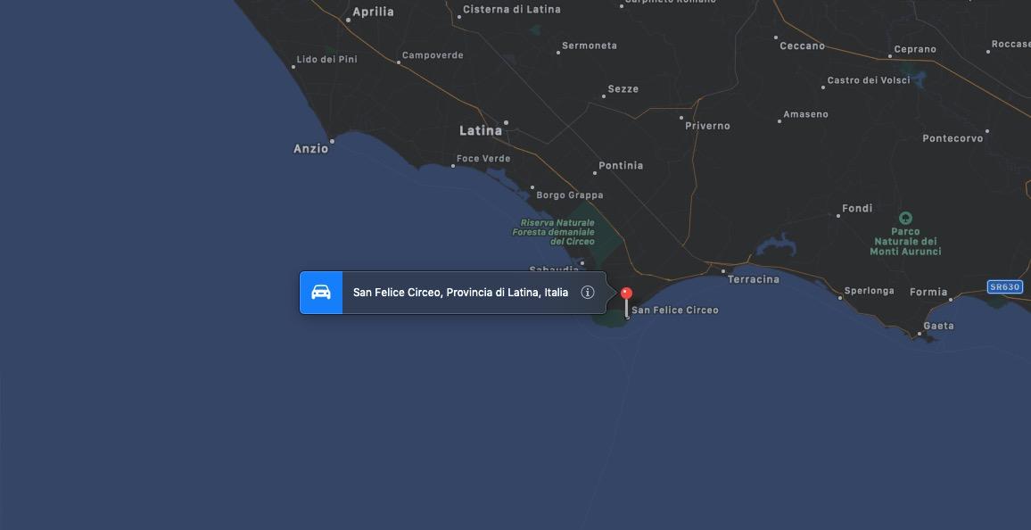 Mappa di San Felice Circeo, Latina