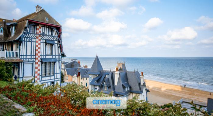 Panorama su Deauville, in Normandia