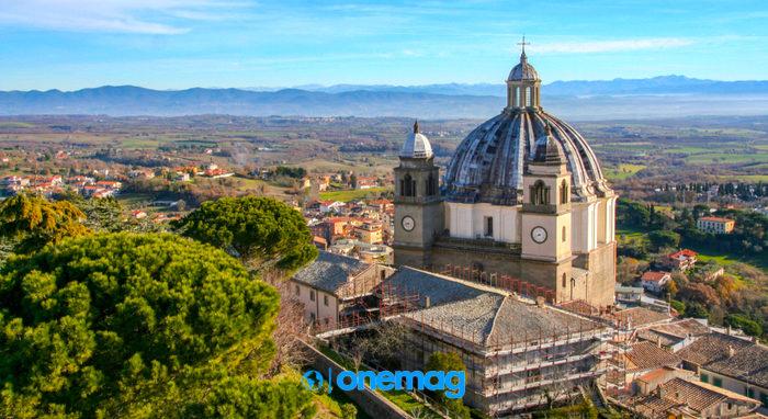 Panorama su Montefiascone e sulla Cattedrale di Santa Margherita