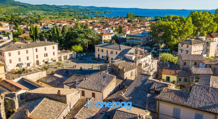 Panorama sul caseggiato di Bolsena, provincia di Viterbo