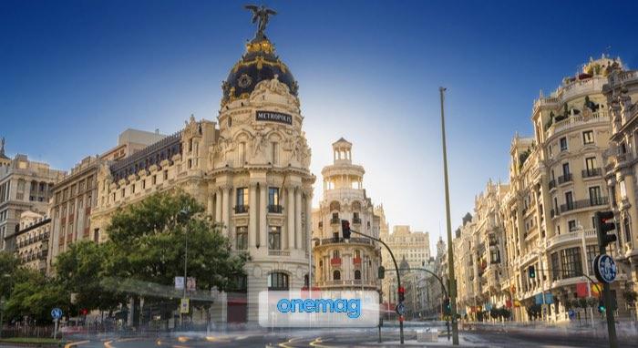 Panorama sulla Gran Via di Madrid