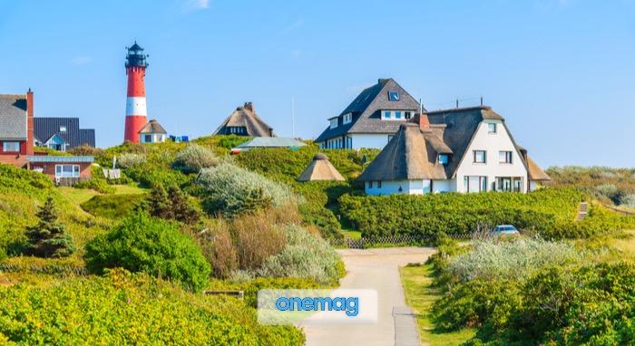 Villaggio di Hornum sulla costa meridionale dell'isola di Sylt, Germania