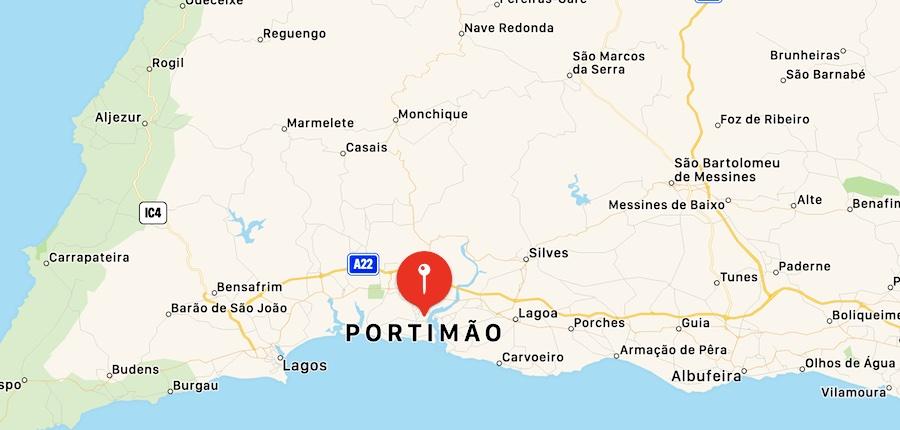 Cosa vedere a Portimao, mappa