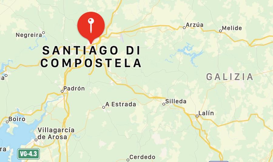 Cosa vedere a Santiago de Compostela, mappa