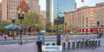 Copley Square, Boston   La piazza ottocentesca del traguardo della Maratona di Boston