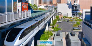 Stazione Flamingo e Caesars Palace della monorotaia di Las Vegas