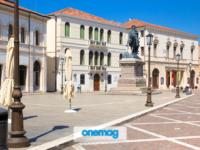 Piazza Garibaldi di Rovigo completamente vuota durate il lockdown della primavera 2020 per la Pandemia di Coronavirus